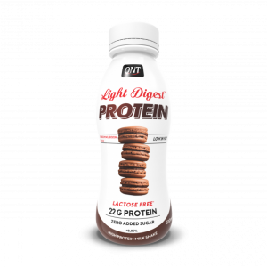 QNT light digest protein instant drink low sugar lactose free chocolate macaroon