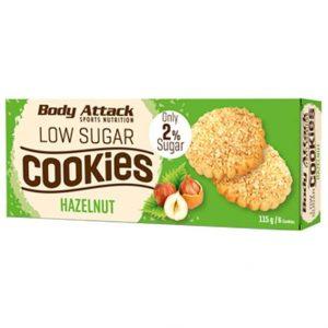 Body Attack low sugar cookies hazelnut