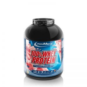 Ironmaxx 100% whey protein strawberry