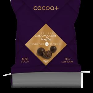 Cocoa+ milk chocolate truffles