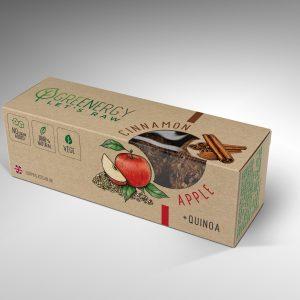 GreenEnergy apple and cinnamon raw energy balls