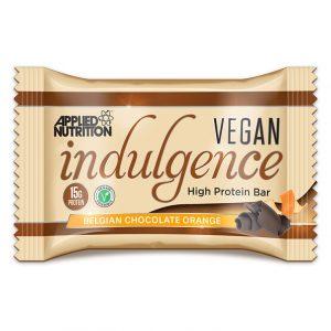 Applied nutrition Vegan Indulgence protein bar Belgian chocolate orange
