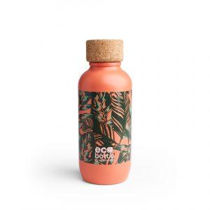 Eco bottle coral leaves