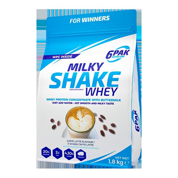 6pak milk shake caffe latte