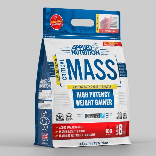 Applied Nutrition Critical Mass High Potency Weight Gainer Strawberry