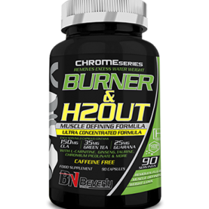 Beverly Nutrition Chrome burner and h2out 90 capsules