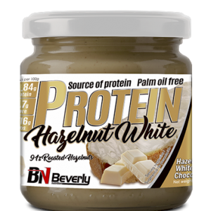 Beverly nutrition palm oil free protein hazelnut white chocolate spred